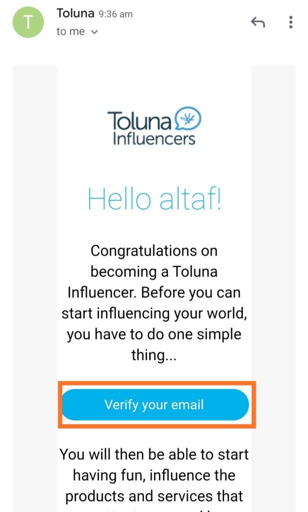 toluna gmail confirm