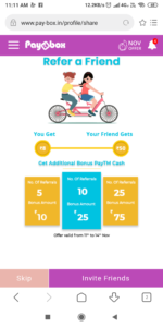 Paybox refer And Earn
