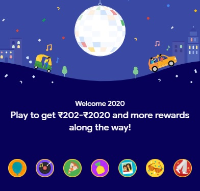 Google Pay 2020 Cake Stamps