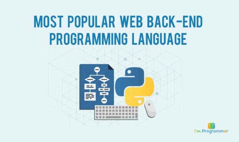 Backend Web Development Languages