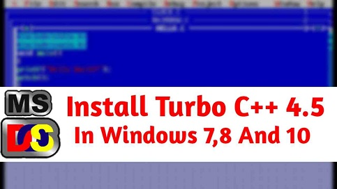 Turbo C++ 4.5 For Windows 10